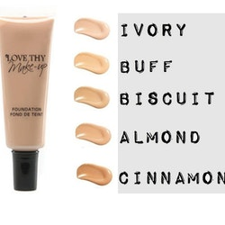 Love Thy Make Up London Creamy Matt Foundation-Almond