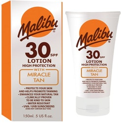 Malibu SPF 30 Lotion with Miracle Tan 150ml
