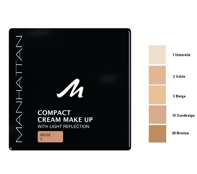 Manhattan Compact Velvet Matt Cream Make Up-Beige