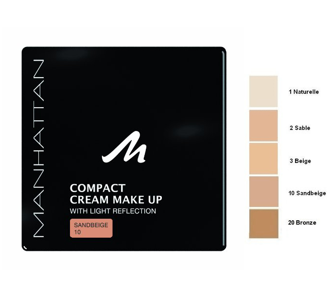 Manhattan Compact Velvet Matt Cream Make Up - Sandbeige
