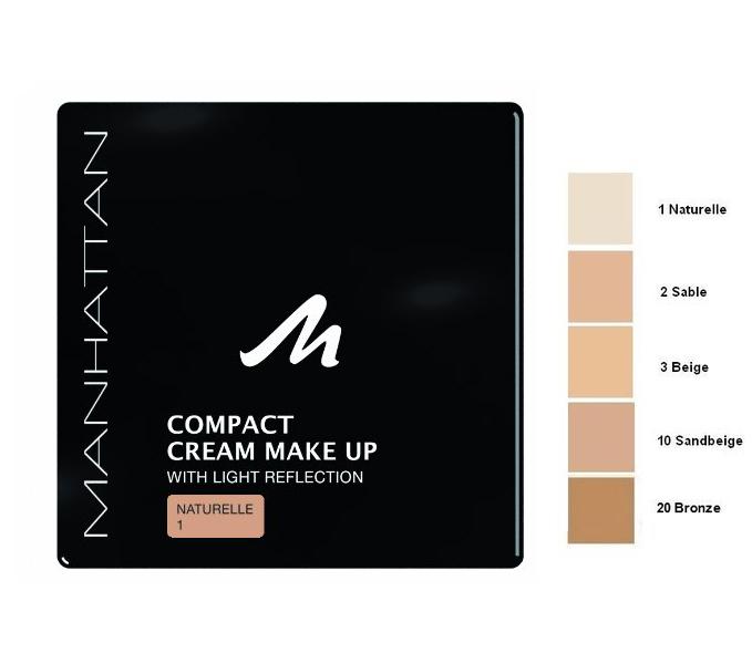 Manhattan Compact Velvet Matt Cream Make Up-01Naturelle