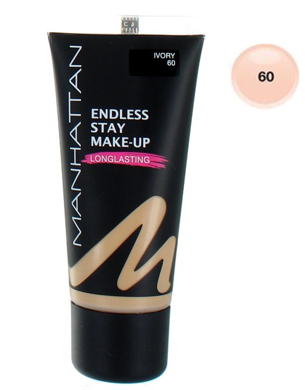 Manhattan Endless Stay Make-Up Foundation - 60 Ivory