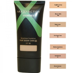 Max Factor Xperience Weightless Foundation SPF10 - 55 Fair Sugar Cane