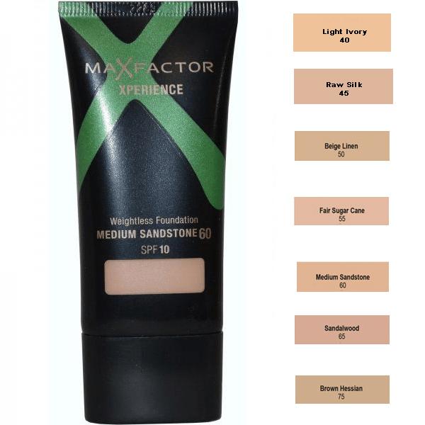 Max Factor Xperience Weightless Foundation SPF10 - 60 Medium Sandstone