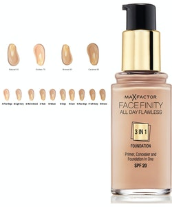 Max Factorfinity All Day Flawless 3-in-1 Foundation SPF20 - Porcelain