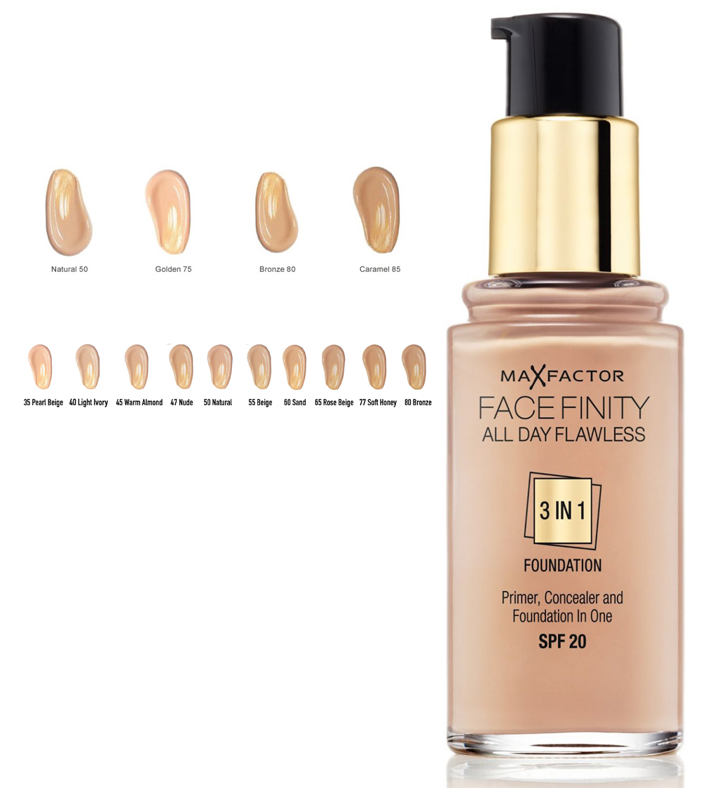 Max Factorfinity All Day Flawless 3-in-1 Foundation SPF20 - Sand