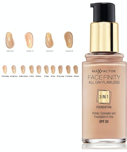Max Factorfinity All Day Flawless 3-in-1 Foundation SPF20 - Warm Almond