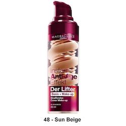 Maybelline Anti-Age Effect Lifter-2 in 1 Base+Make Up-48 Sun Beige