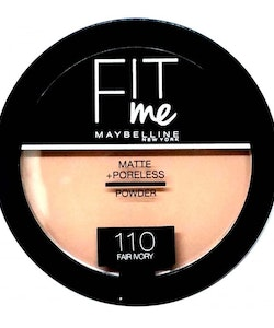 Maybelline Fit Me Matte & Poreless Pressed Powder-110 Fair Ivory
