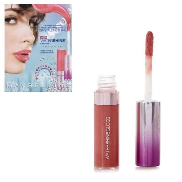 Maybelline Gemey Water Shine Lipgloss -133 Strawberry Carats