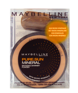 Maybelline Mineral Loose Bronzing Shimmer Powder & Realhair-KabukiBrush- 02 Sunkissed