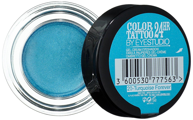 Maybelline Studio ColorTattoo 24Hr Creamy Gel Eyeshadow-Turquoise Forever