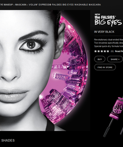 Maybelline Volum Express Falsies Big Eyes Mascara-Black