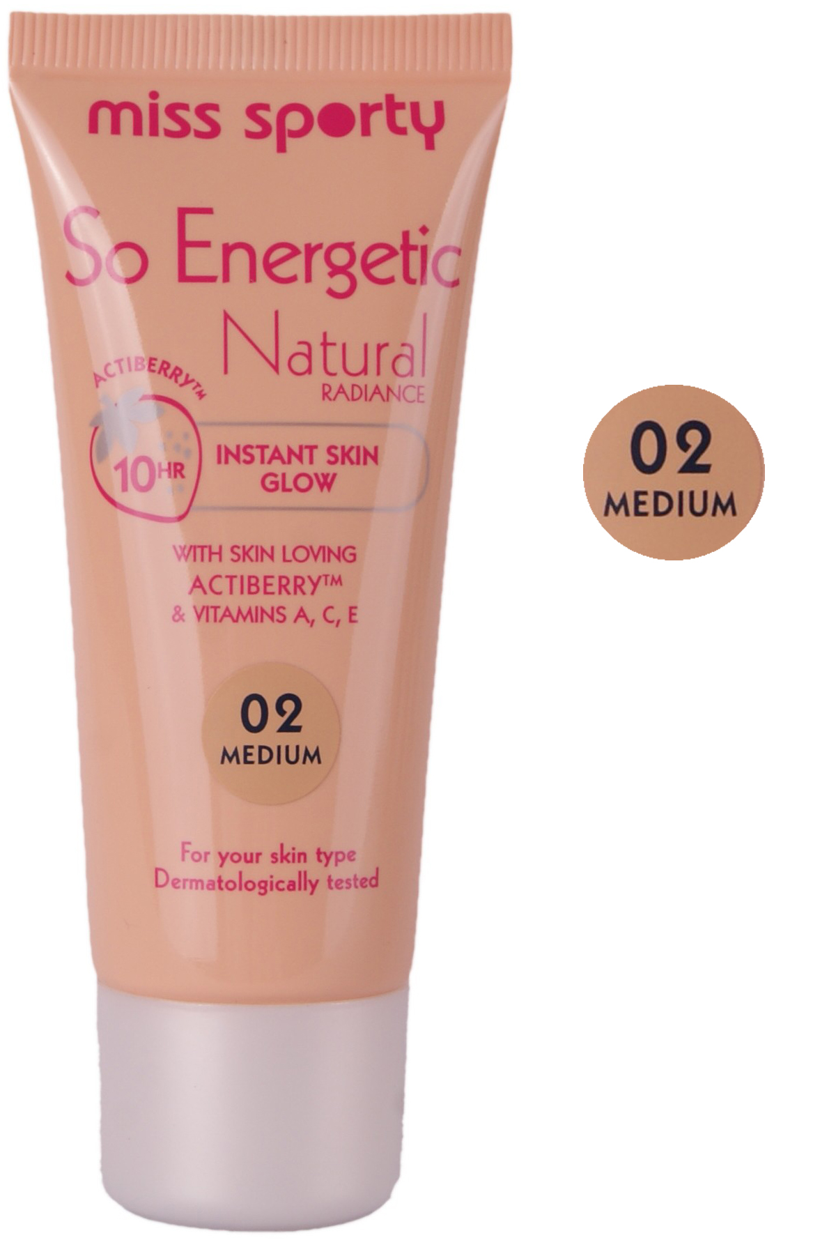 Miss Sporty Energetic Natural Radiance Foundation-Medium