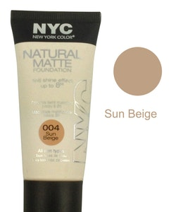 NYC Natural Matte Anti Shine Foundation-004 Sun Beige