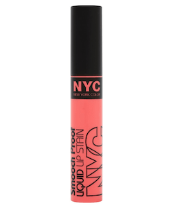 NYC Smooch Proof Liquid Lip Stain - 100 Faithful Coral