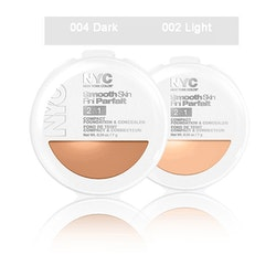 NYC Smooth Skin 2 in1 Compact Foundation & Concealer-Dark