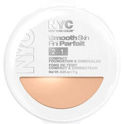 NYC Smooth Skin 2 in1 Compact Foundation & Concealer-Light