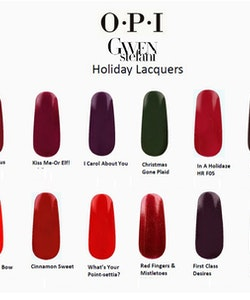OPI Christmas Gwen Stefani Holiday Collection-Kiss Me-or Elf!