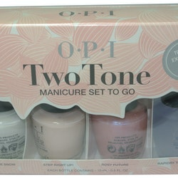 OPI Two Tone Manicure Set To Go-Classic Pink&White Two-Toning Set