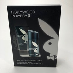 Playboy HOLLYWOOD Giftset-Deospray 150ml+ Shower Gel 150ml