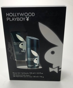 Playboy HOLLYWOOD Giftset-Deospray 150ml+ Shower Gel 150ml