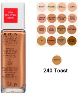 Revlon Nearly Naked Make Up Foundation SPF20 - 240 Toast