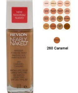 Revlon Nearly Naked Make Up Foundation SPF20 - 260 Caramel