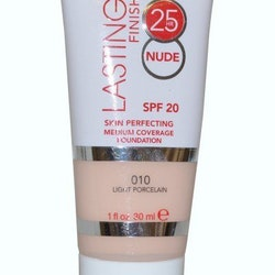 Rimmel 25Hr Lasting Finish Foundation Skin Perfect   Innehåller 30ml med SPF20  Färgkod: 010 Light Porcelain