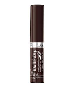 Rimmel Brow This Way Brow Styling Gel with Argan Oil-Dark Brown