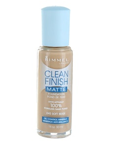 Rimmel CLEAN Finish MATTE Foundation - Soft Beige