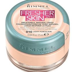 Rimmel Fresher Skin Foundation SPF 15 - 010 Light Porcelain