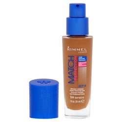 Rimmel Match Perfection Light Foundation  SPF18-504 Deep Mocha