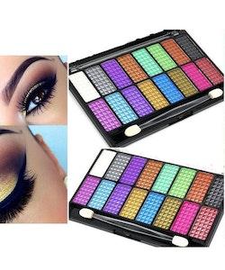 Saffron 16 Shades Metallic Pearl Eyeshadow PaletteSa?ron Matte-Metallic-Glitter Eyeshadow Palette