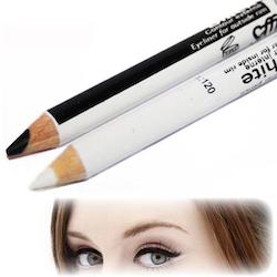 Saffron 2 in 1 Black and White Kohl Eyeliner Pencil