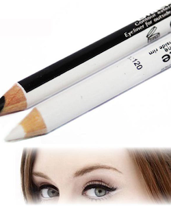 Saffron 2 in 1 Black and White Kohl Eyeliner Pencil