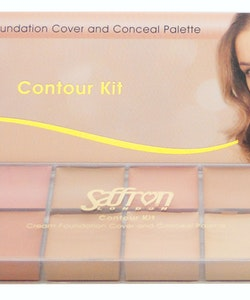 Saffron Cream Foundation Cover and Conceal Palette Contour Kit
