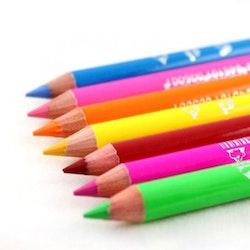 Saffron London NEON  2 in 1 Eyeliner Eye&Lip Liner Pencil -Neon Red