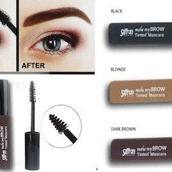 Saffron Make My Brow Tinted Mascara - Black