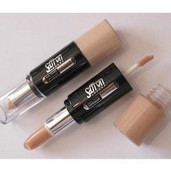 Saffron Mineral Dual Toned Concealer&Skin Colour Foundation - Sun Glow