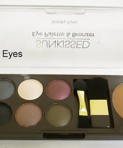 Sunkissed Eye Palette-Bronzer & Metallic Smokey Eyes