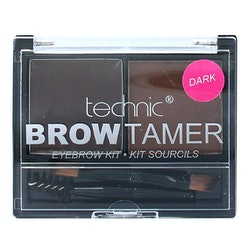 Technic Brow Tamer Eyebrow Kit *Dark Brown*-Spoolie Brush+Powder+Wax