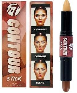 W7 Dual Highlight & Contour Face Shaping Contour Stick - Medium/Dark