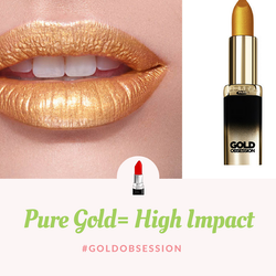 L'Oreal Gold Obsession 24K Guld-Shimmery Lipstick - Pure Gold