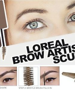 L' Oreal BROW Artist Sculpt Mascara - Brunette