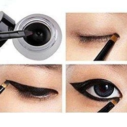 Saffron Black GEL Eyeliner With Brush Longlasting&Waterproof