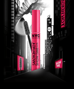 NYC Smokin'Hot Show Time Volume Mascara- Black