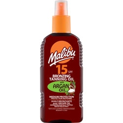 Malibu Bronzing Tanning Oil with Argan Oil SPF 15