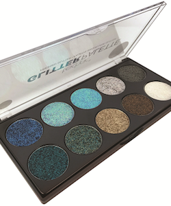 Technic Vegansuitable Pressed Glitter Eyshadow Large Palette-Mermaid