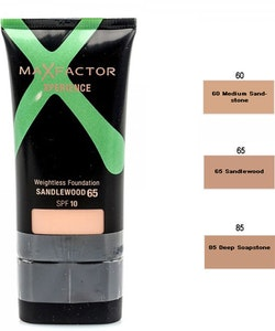 Max Factor Xperience Weightless Foundation SPF10 - 65 Sandlewood